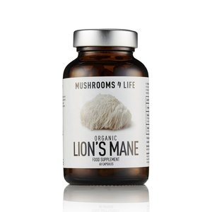 Mushrooms4Life Lion's Mane - Organische Paddenstoel - 60caps - BIO