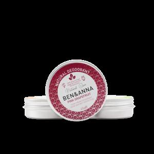 Ben & Anna Natural Deodorant - Pink Grapefruit - Jar - 45gr