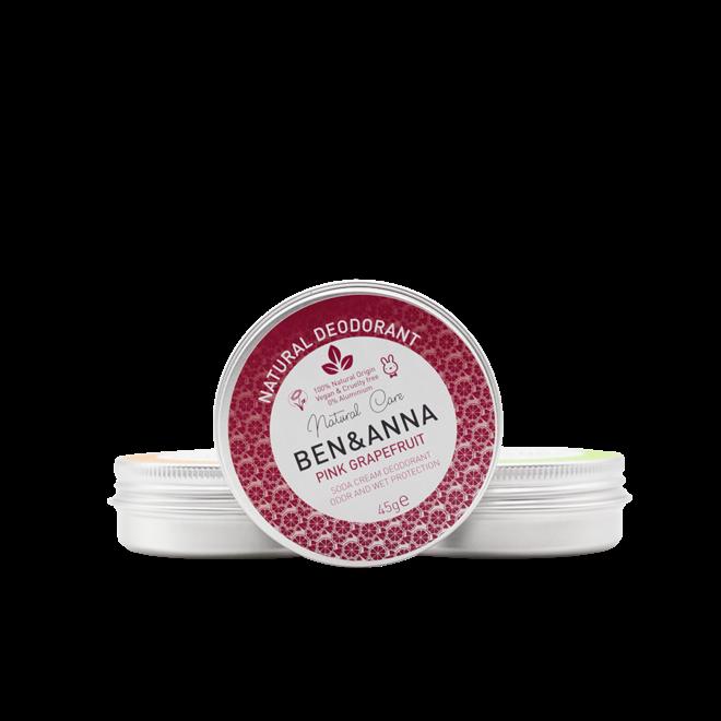 Natural Deodorant - Pink Grapefruit - Jar - 45gr