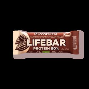 Lifebar Proteïnereep Chocolate Green RAW - 47g - BIO