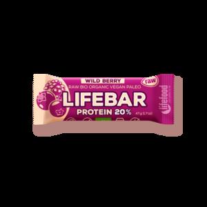 Lifebar Proteïnereep Wild Berry RAW - 47g - BIO