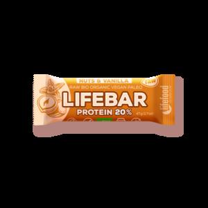 Lifebar Proteïnereep Nuts & Vanilla RAW - 47g - BIO
