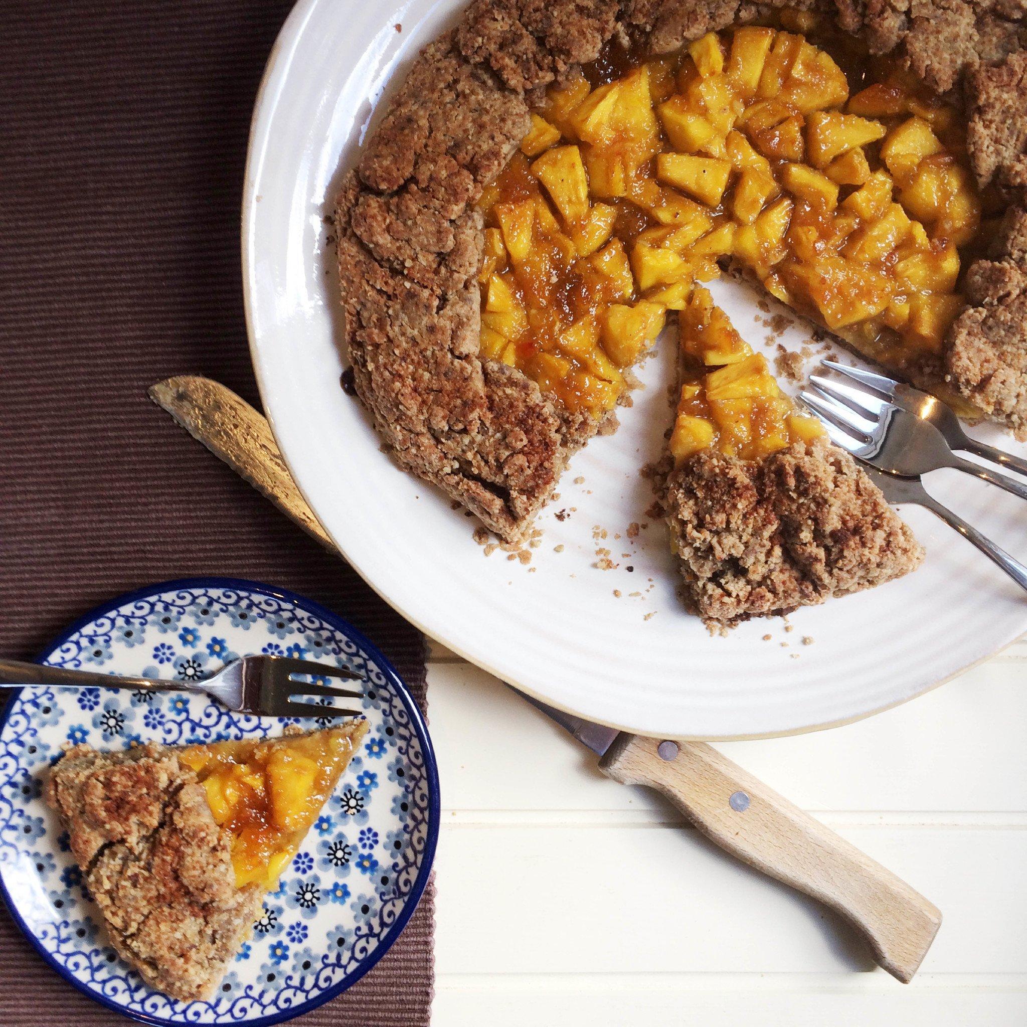 glutenvrije galette met mango gember en sinaasappel