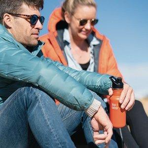 Klean Kanteen RVS Bidon / Drinkfles - Classic Sport Cap - Sierra Sunset - 800ml
