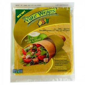 Pure Wraps Kokoswraps Curry - (4st) 56g