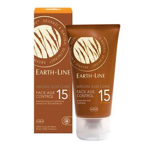 Earth Line Zonnebrand Face Age Control Argan SPF 15  - BIO 50ml