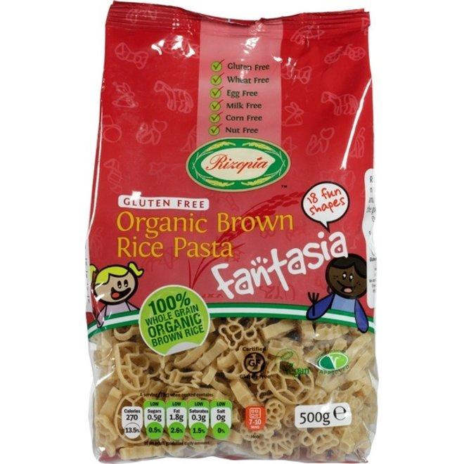 Bruine rijst pasta Fantasia 500gr - BIO