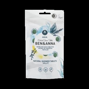 Ben & Anna Natuurlijke douche tabletten Aqua - 120g