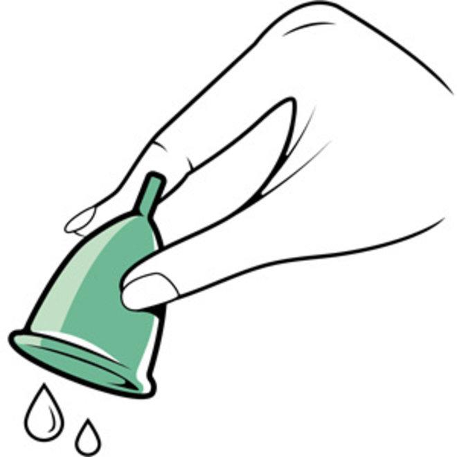 Menstruatiecup Transparant - Maat S & L