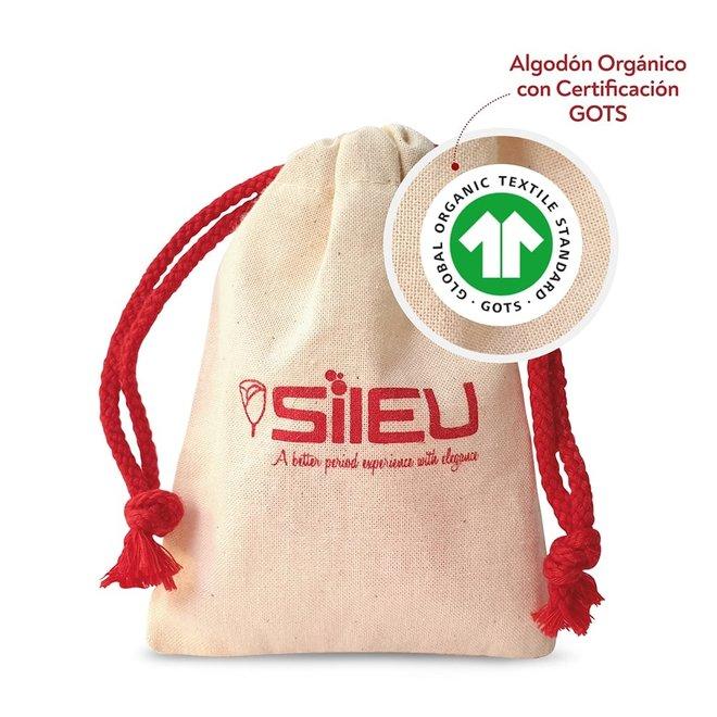 Menstruatiecup Roos rood - Maat S & L - Soft