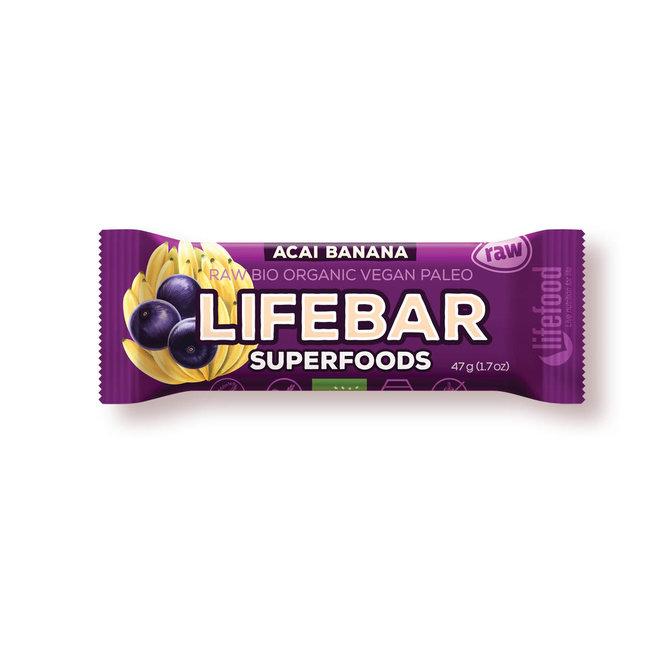 Lifebar Plus Acai-Banaan RAW - 47g - BIO