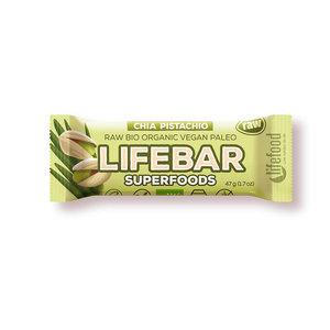 Lifebar Superfoods Chia-Pistache RAW - 47g - BIO