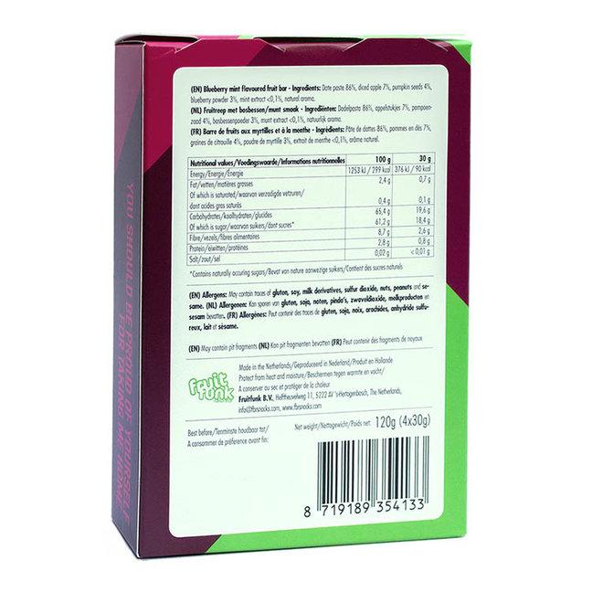 Fruitreep met Bosbessen/Munt Smaak - (4st) 120g