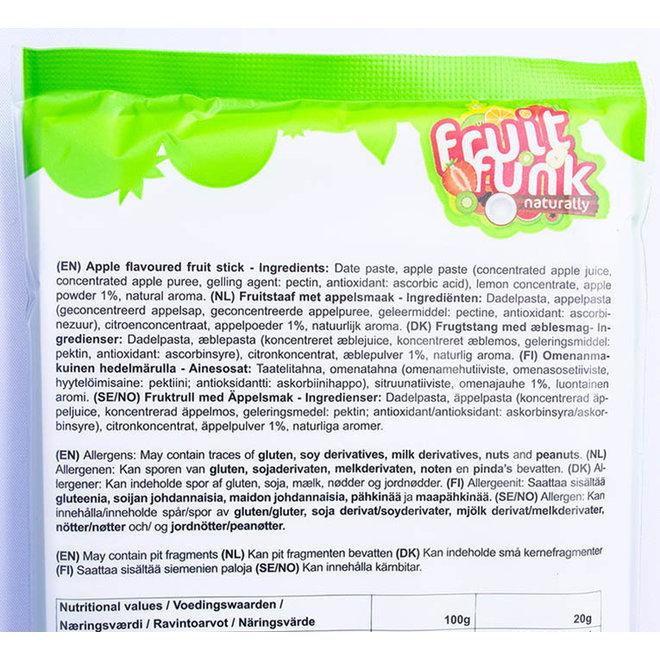 Fruit sticks XXL Appel - (5st) 100g