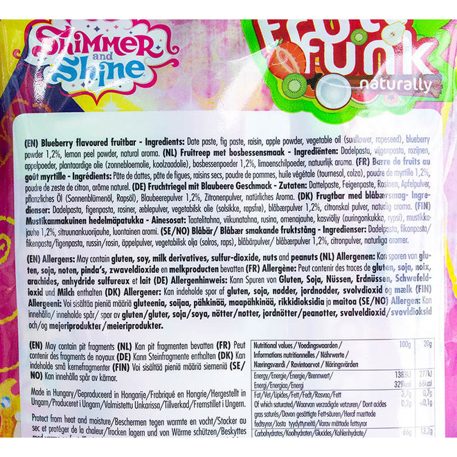 Shimmer & Shine Schoolbars Bosbessensmaak - (3 repen) 60g