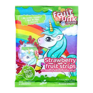 Fruitfunk Unicorn Uitdeelzak Aardbei - (10 zakjes) 100g
