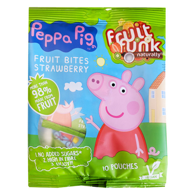 Peppa Pig Uitdeelzak Aardbei - 10 x 10g