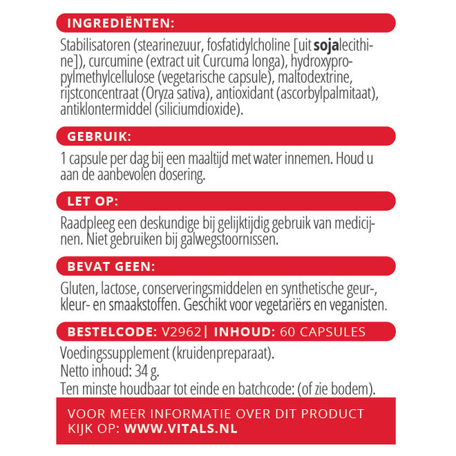 Curcumine SLCP 60 capsules