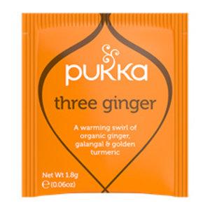 Pukka Three Ginger (gember) - kruidenthee - BIO