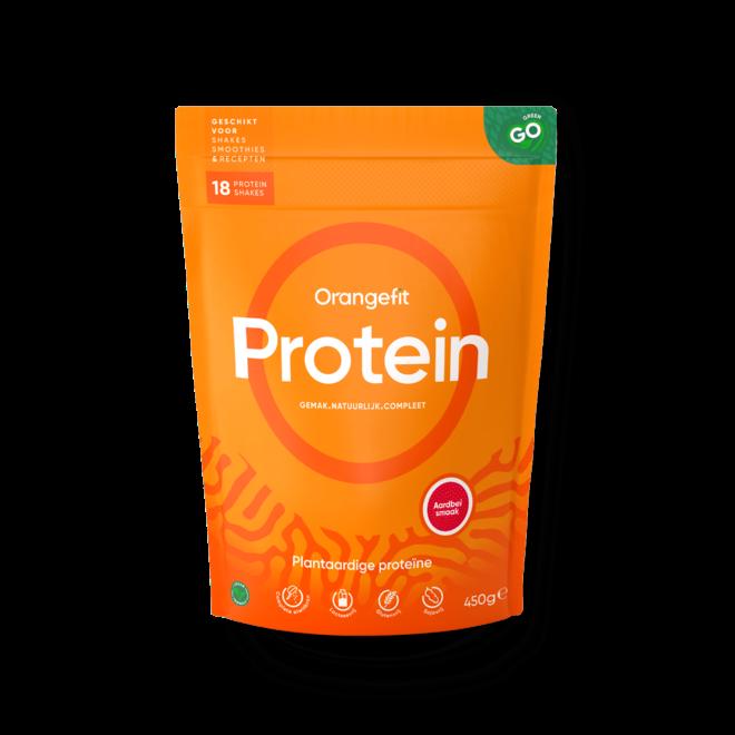 Protein Aardbei met Zoetstoffen uit Stevia - 450g