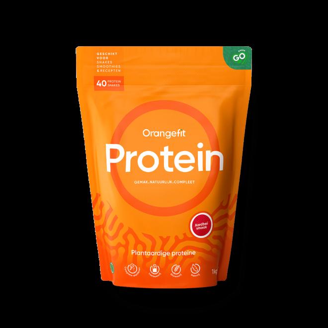 Protein Aardbei met Zoetstoffen uit Stevia - 1kg
