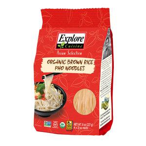 Explore Cuisine Bruine Rijst Pho Noodles - 227g - BIO
