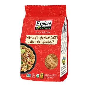 Explore Cuisine Bruine Rijst Pad Thai Noodles - 227g - BIO