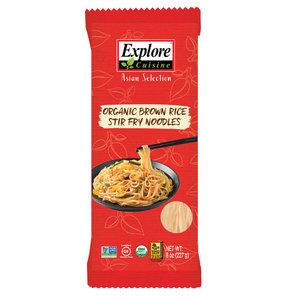 Explore Cuisine Bruine Rijst Wok Noedels - 227g - BIO
