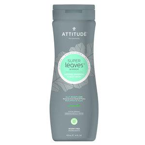 ATTITUDE 2-in-1 Scalp Care - Shampoo en Body Wash - Mannen - 473ml