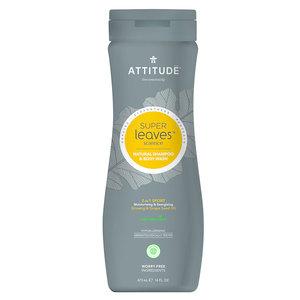 ATTITUDE 2-in-1 Sport - Shampoo en Body Wash - Mannen - 473ml