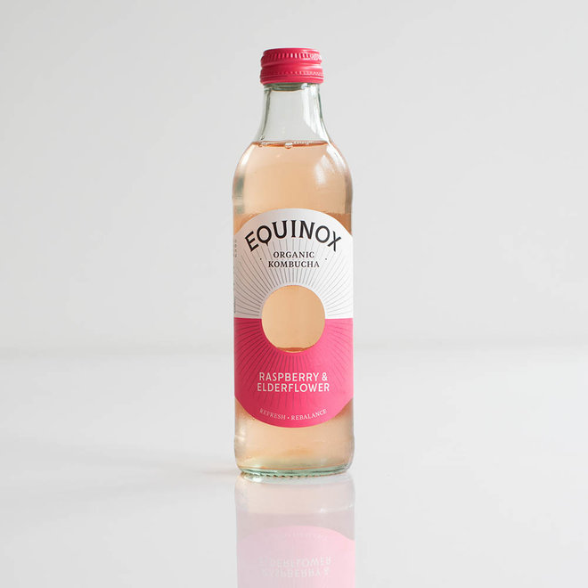 Equinox Kombucha - Raspberry en Elderflower - 275ml - BIO