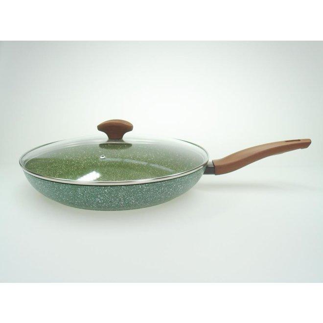 Koekenpan 28cm met hout-look greep - VegeTek