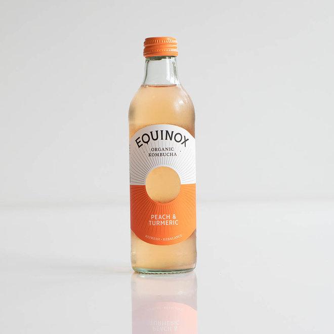 Kombucha - Peach en Turmeric - 275ml - BIO - THT 16-5-2021