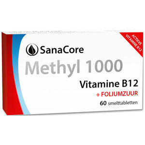Sanacore Methyl 1000 Vitamine B12 60 tabletten