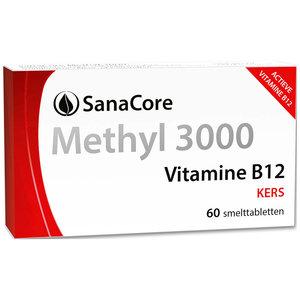 Sanacore Methyl 3000 Vitamine B12 60 tabletten zonder foliumzuur
