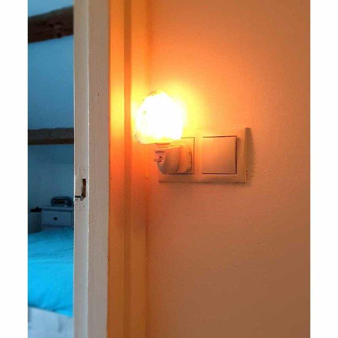 Himalayazout nachtlamp voor stopcontact - Rotsje
