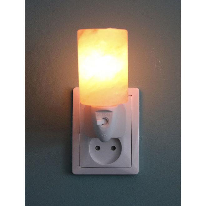 Himalayazout nachtlamp voor stopcontact - Cilinder