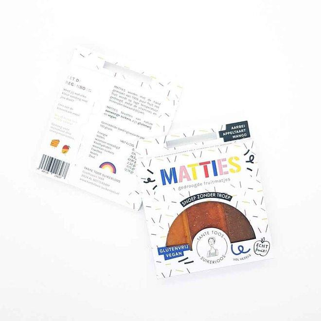 Gedroogde Fruitmatjes - Mix - 50g