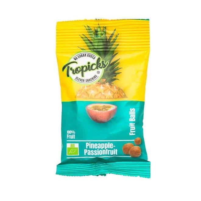 Ananas-passievrucht fruit snoep balletjes - 50g