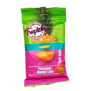 Tropicks Ananas/Mango/Limoen Fruit Balls - 50g