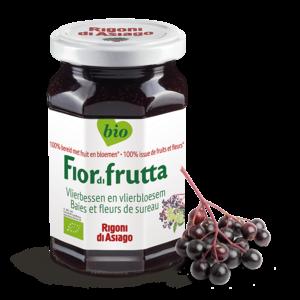 FiordiFrutta Fruitspread vlierbessen en vlierbloesem 250g - BIO