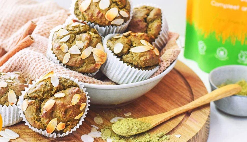 Gezonde Muffins met Matcha