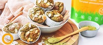 Eiwitrijke Matcha Muffins