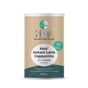 Go-Keto Instant Keto Latte Cappuccino - Gezoet -  MCT 60/40 - 250g