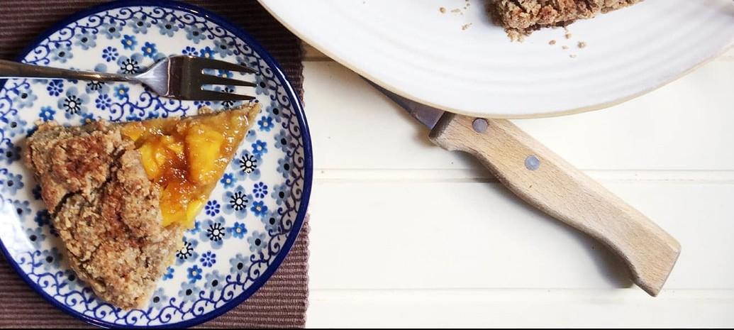 Galette met mango, gember en sinaasappel