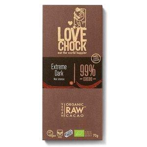Lovechock Extreme Dark 99% cacao - 70g - BIO