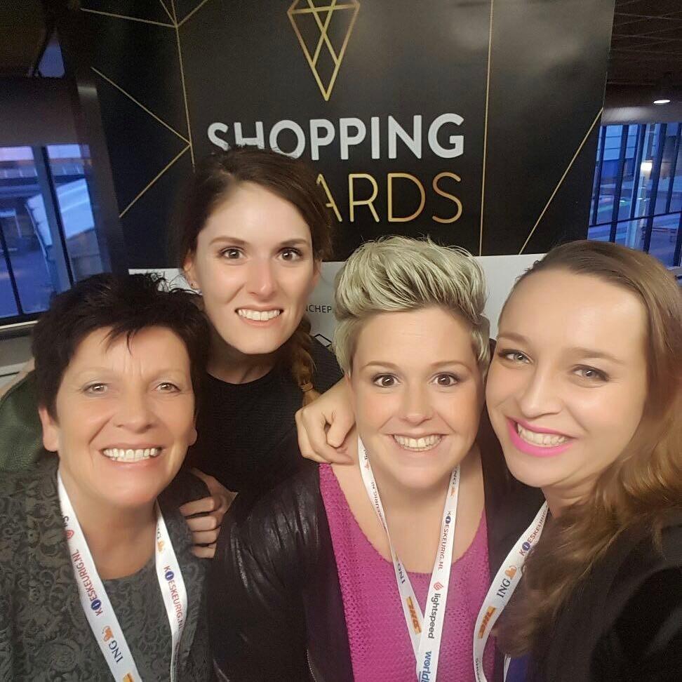 Team Puur Mieke op de Shopping Awards uitreiking 2017
