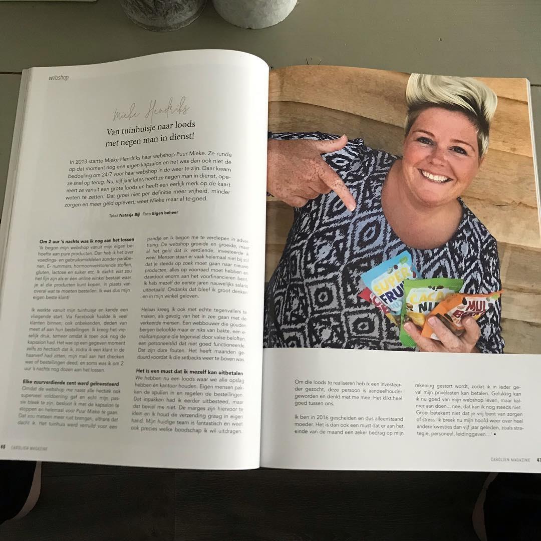 Vermelding Puur Mieke in Life & Bizz magazine