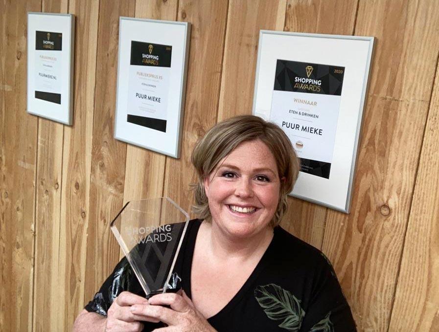 Puur Mieke heeft de Shopping Awards 2021 gewonnen