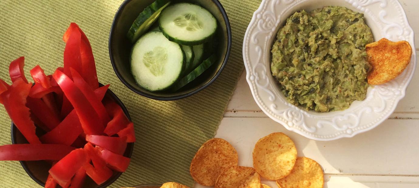 Doperwten-avocadospread met tahin